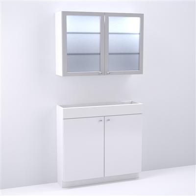 Shampoo back bar storage cabinet for salon spa for Armoire salon design